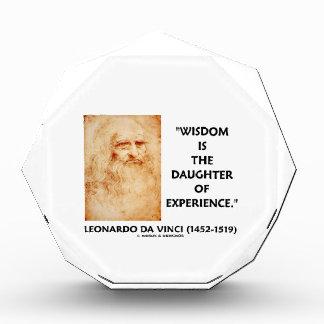 da Vinci Wisdom Is The Daughter Of Experience Acrylic Award