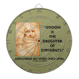 da Vinci Wisdom Is The Daughter Of Experience Dart Board