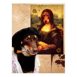 Da Vinci y la Mona Lisa Tarjetas Postales