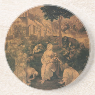 da Vinci's Adoration of the Magi Sandstone Coaster