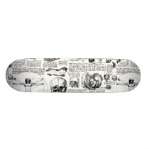 Da Vinci's Anatomy Sketchbook Skateboard