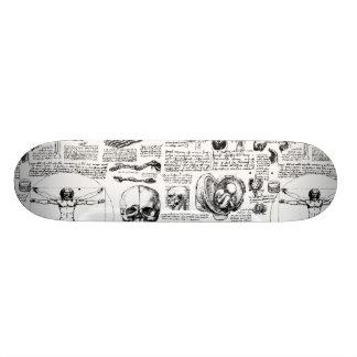 Da Vinci's Anatomy Sketchbook Skateboard