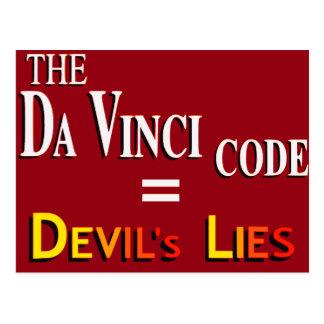 Da Vinci's Code Postcard