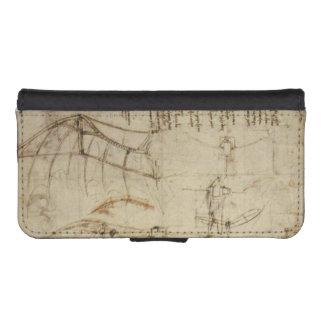 Da Vinci's Flying Contraption iPhone SE/5/5s Wallet Case
