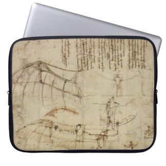 Da Vinci's Flying Contraption Laptop Computer Sleeve