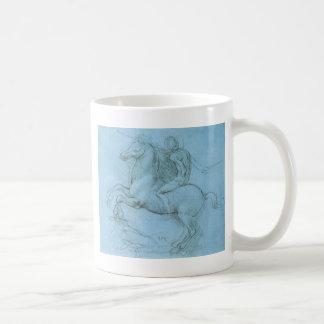 Da Vinci's Horse and Rider Classic White Coffee Mug