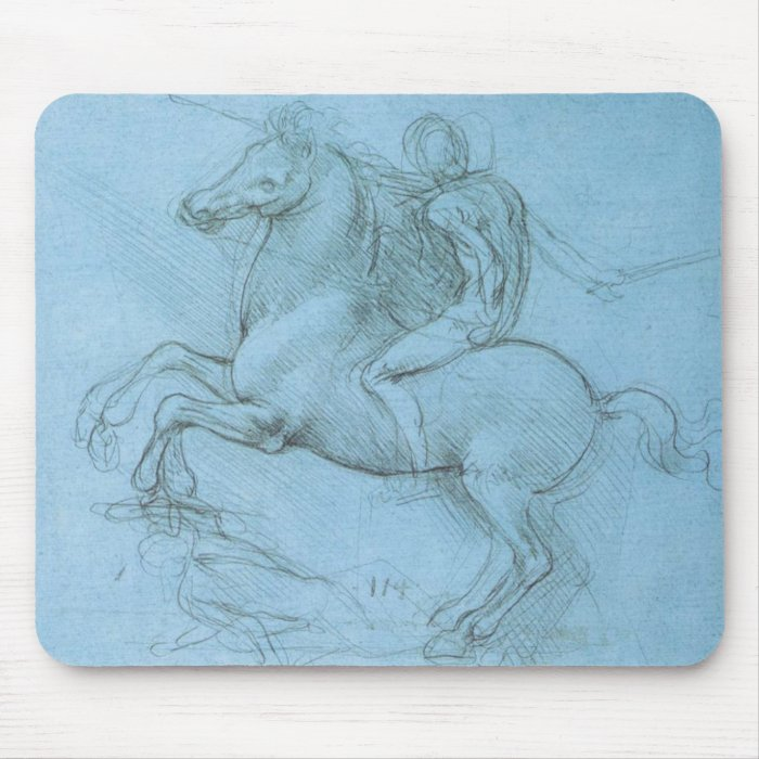 Da Vinci's Horse and Rider Mouse Pad