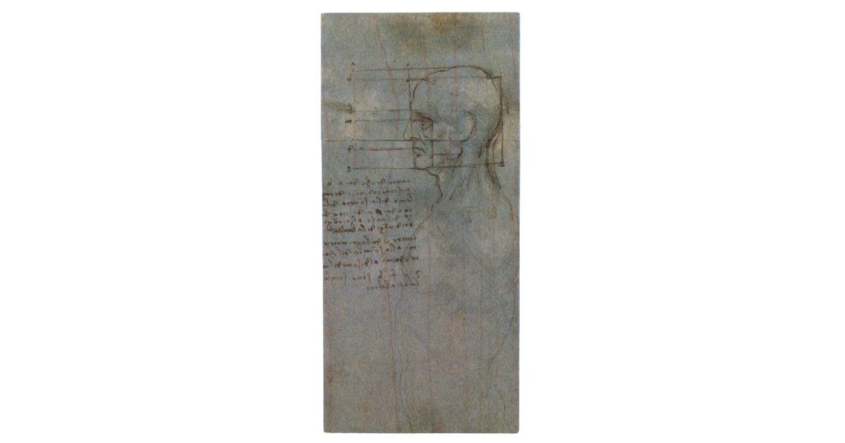 Da Vincis Human Anatomy Notebook Wood Flash Drive Zazzle