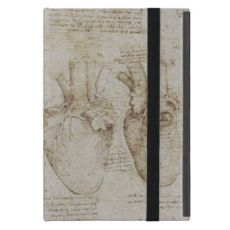 Da Vinci's Human Heart Anatomy Sketches iPad Mini Case