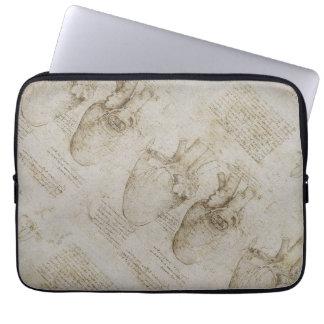 Da Vinci's Human Heart Anatomy Sketches Laptop Sleeve