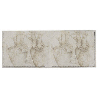 Da Vinci's Human Heart Anatomy Tyvek Wallet