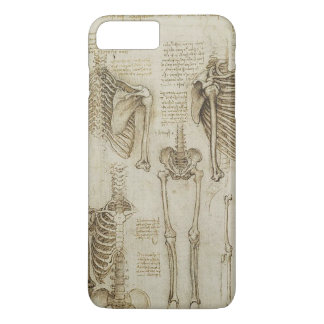 Da Vinci's Human Skeleton Anatomy Sketches iPhone 7 Plus Case