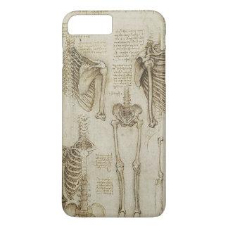 Da Vinci's Human Skeleton Anatomy Sketches iPhone 8 Plus/7 Plus Case
