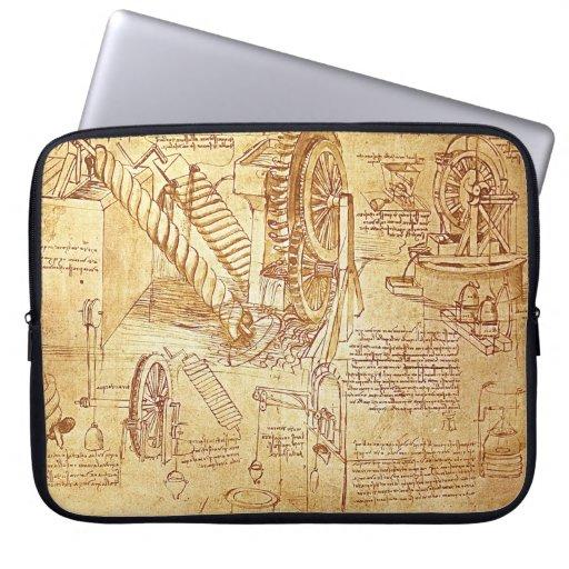 Da Vinci's Notes Laptop Cover Laptop Sleeve