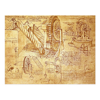 Da Vinci's Notes Post Card