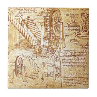Da Vinci's Notes Ceramic Tile