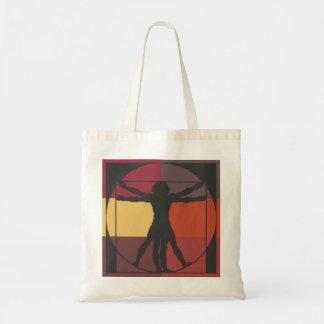 Da Vinci's Vitruvian Man Canvas Bags