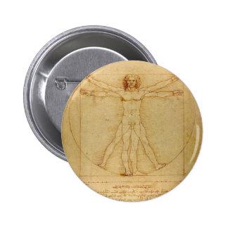 Da Vinci's Vitruvian Man Pin