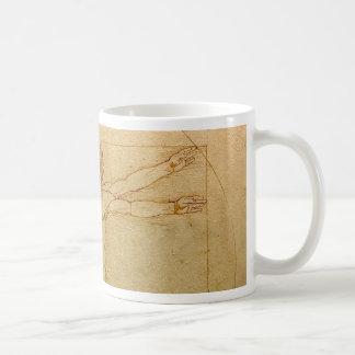 Da Vinci's Vitruvian Man Classic White Coffee Mug