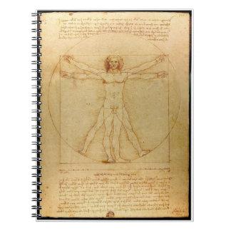 Da Vinci's Vitruvian Man Notebook