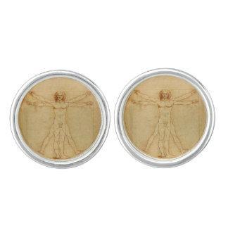 Da Vinci's Vitruvian Man Cufflinks