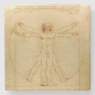 Da Vinci's Vitruvian Man Stone Coaster