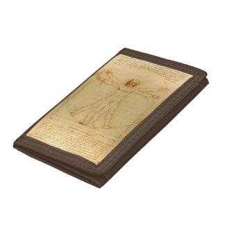 Da Vinci's Vitruvian Man Trifold Wallets
