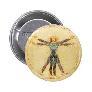 Da Vinci's Vitruvian man with tattoos Pin