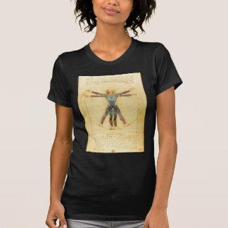 Da Vinci's Vitruvian man with tattoos T-Shirt