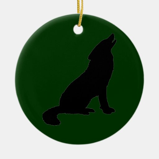 Da Wolf Double-Sided Ceramic Round Christmas Ornament