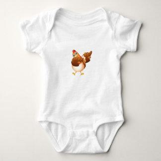 Dab Dabbing Chicken Lover Funny Gift Baby Bodysuit