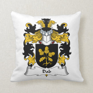 Dab Family Crest Throw Pillows