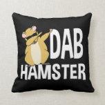 Dab Hamster Funny Cute Dabbing Animal Dance Throw Pillow