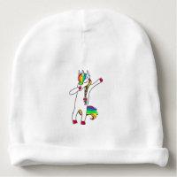 Dab unicorn baby beanie