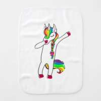 Dab unicorn burp cloth