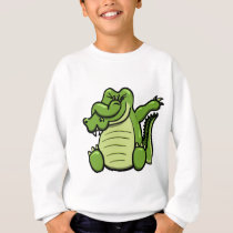 Dabbing Animals Alligator Sweatshirt