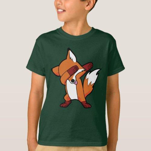 Dabbing Fox Hip Hop Dance Dab T_Shirt