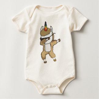 Dabbing Llamacorn Dab Sunglasses Llama Unicorn Baby Bodysuit