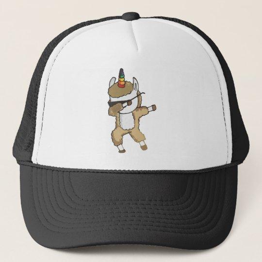 ee1d8916f3cf8 Dabbing Llamacorn Dab Sunglasses Llama Unicorn Trucker Hat