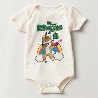 Dabbing Llamacorn Llama Unicorn 11TH Birthday Baby Bodysuit