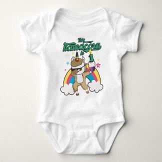 Dabbing Llamacorn Llama Unicorn 1ST Birthday Baby Bodysuit