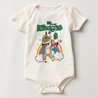 Dabbing Llamacorn Llama Unicorn 5TH Birthday Baby Bodysuit