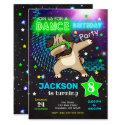 Dabbing Pug Birthday Invitation / Boy Dance Party
