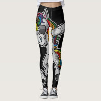 Dabbing Soccer Unicorn Dab Leggings