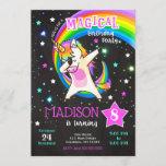 Dabbing Unicorn Birthday Invitation