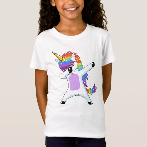 Dabbing Unicorn _ Dancing Rainbow Unicorn Gifts T_Shirt