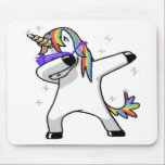 "Dabbing Unicorn Mouse Pad<br><div class=""desc"">search bizzle for more designs or  www.bizzleapparel.spreadshirt.com www.bizzleapparel/zazzle.com</div>"