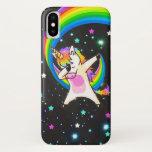 Dabbing Unicorn Neon Glow iPhone X Case