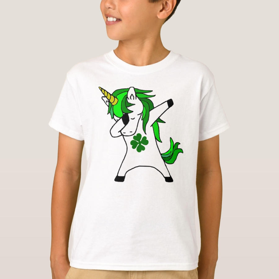 7a6f2436e Dabbing Unicorn St. Patrick's Day Green Shamrock T-Shirt - Unique  Comfortable And Fitted