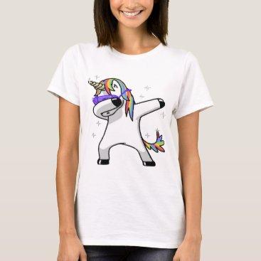 BizzleApparel Dabbing Unicorn T-Shirt